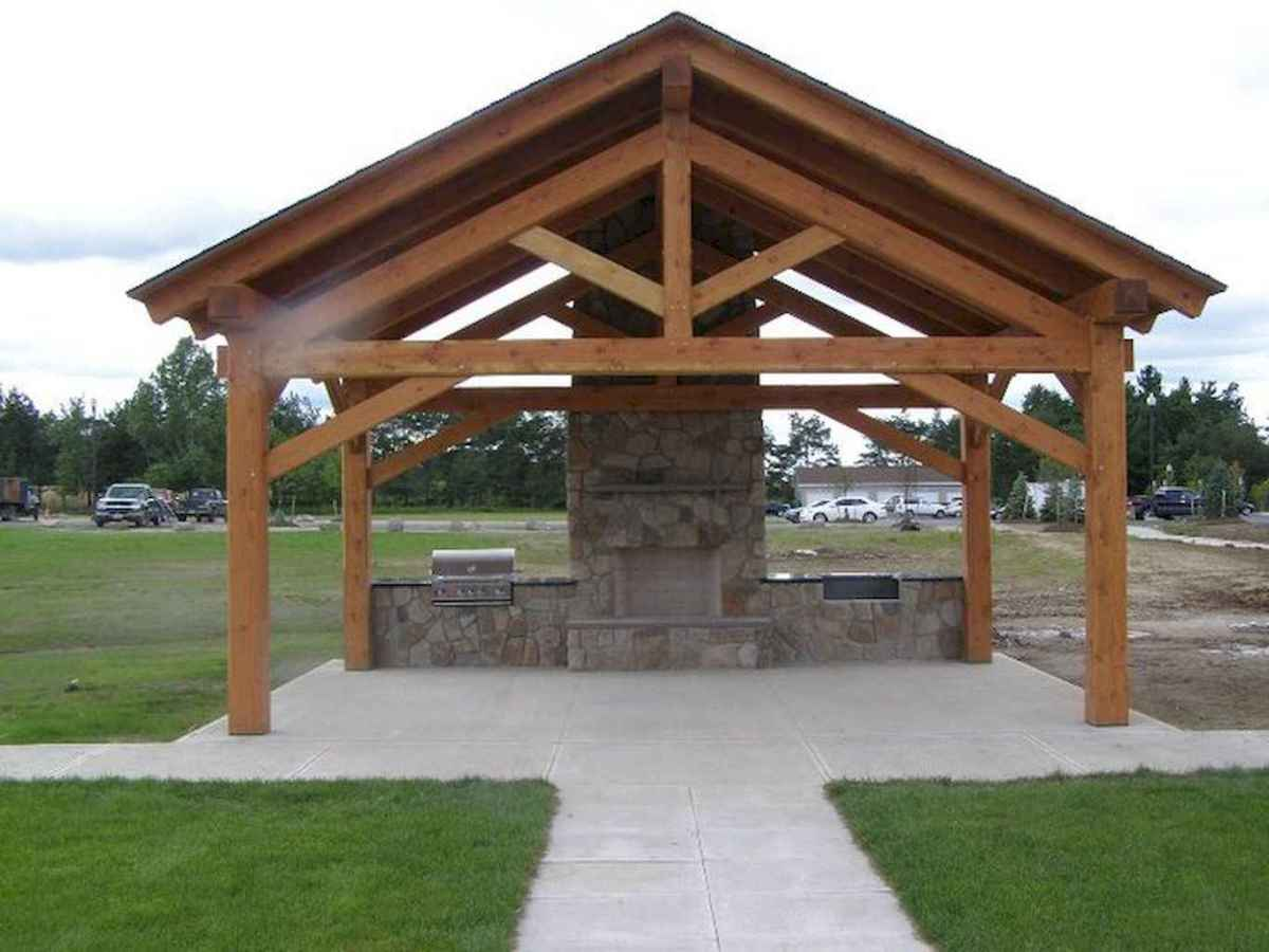 Incredible wood backyard pavilion design ideas outdoor (13)