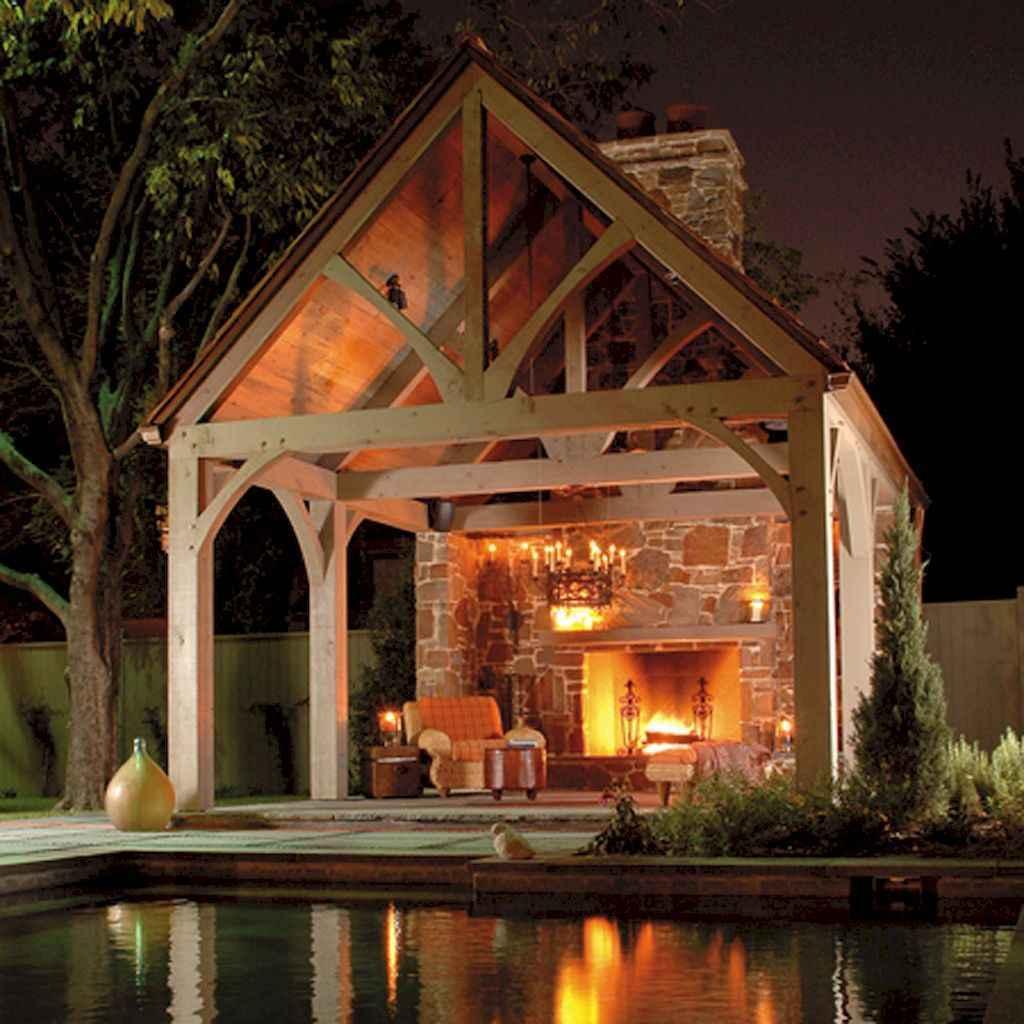 Incredible wood backyard pavilion design ideas outdoor (14)