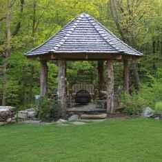 Incredible wood backyard pavilion design ideas outdoor (28)