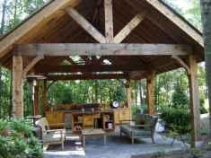Incredible wood backyard pavilion design ideas outdoor (29)