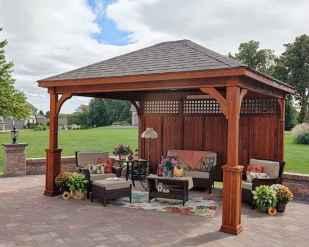 Incredible wood backyard pavilion design ideas outdoor (31)