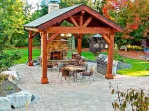 Incredible wood backyard pavilion design ideas outdoor (44)