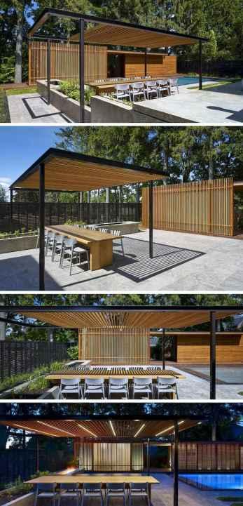 Incredible wood backyard pavilion design ideas outdoor (53)