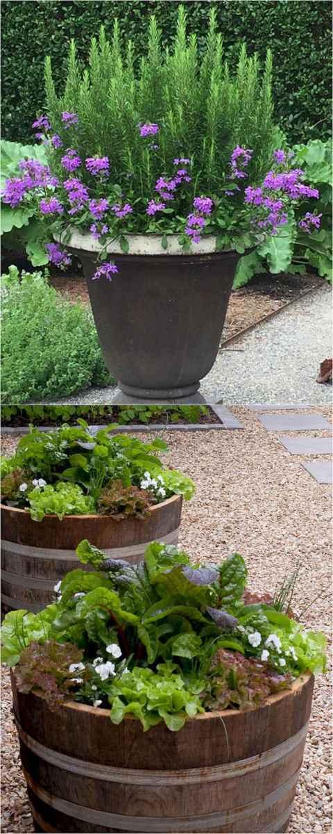 Adorable diy container herb garden design ideas (42)