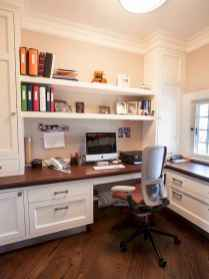 Simple home office decor ideas for men (37)