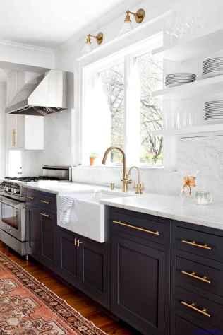 028 luxury black and white kitchen design ideas
