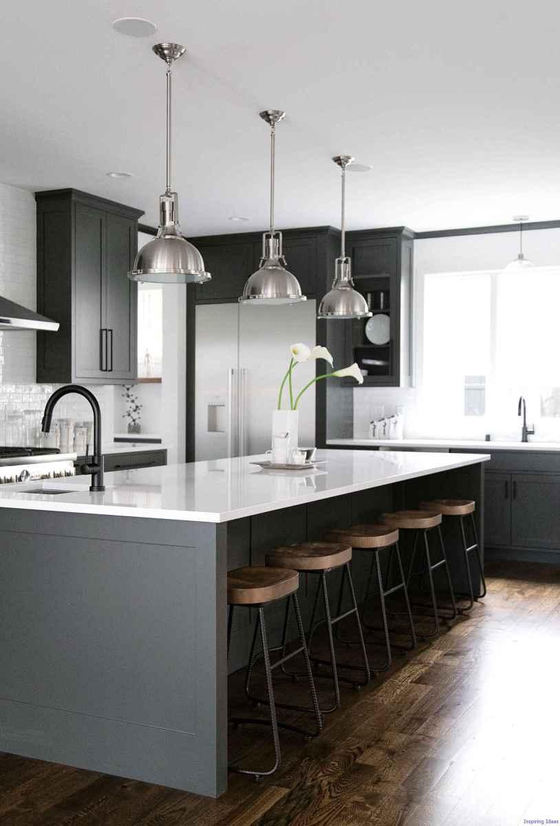 032 luxury black and white kitchen design ideas