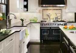 044 luxury black and white kitchen design ideas