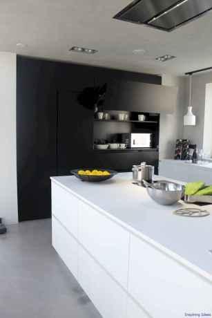 056 luxury black and white kitchen design ideas