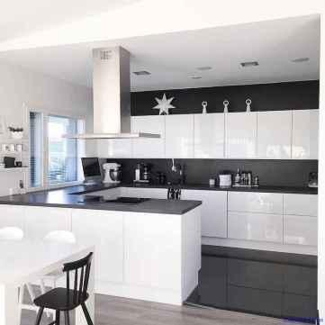 058 luxury black and white kitchen design ideas