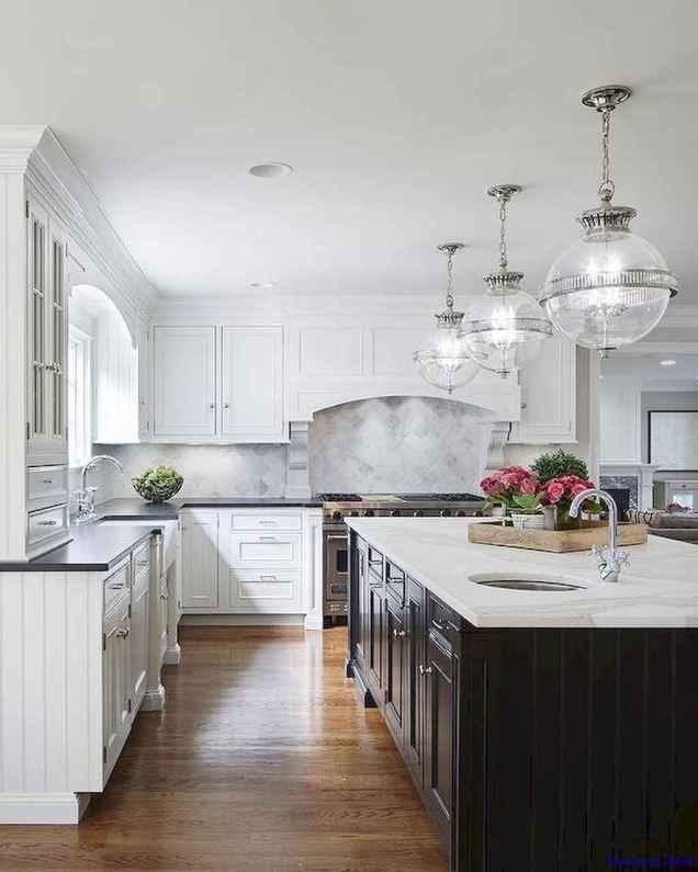 060 luxury black and white kitchen design ideas