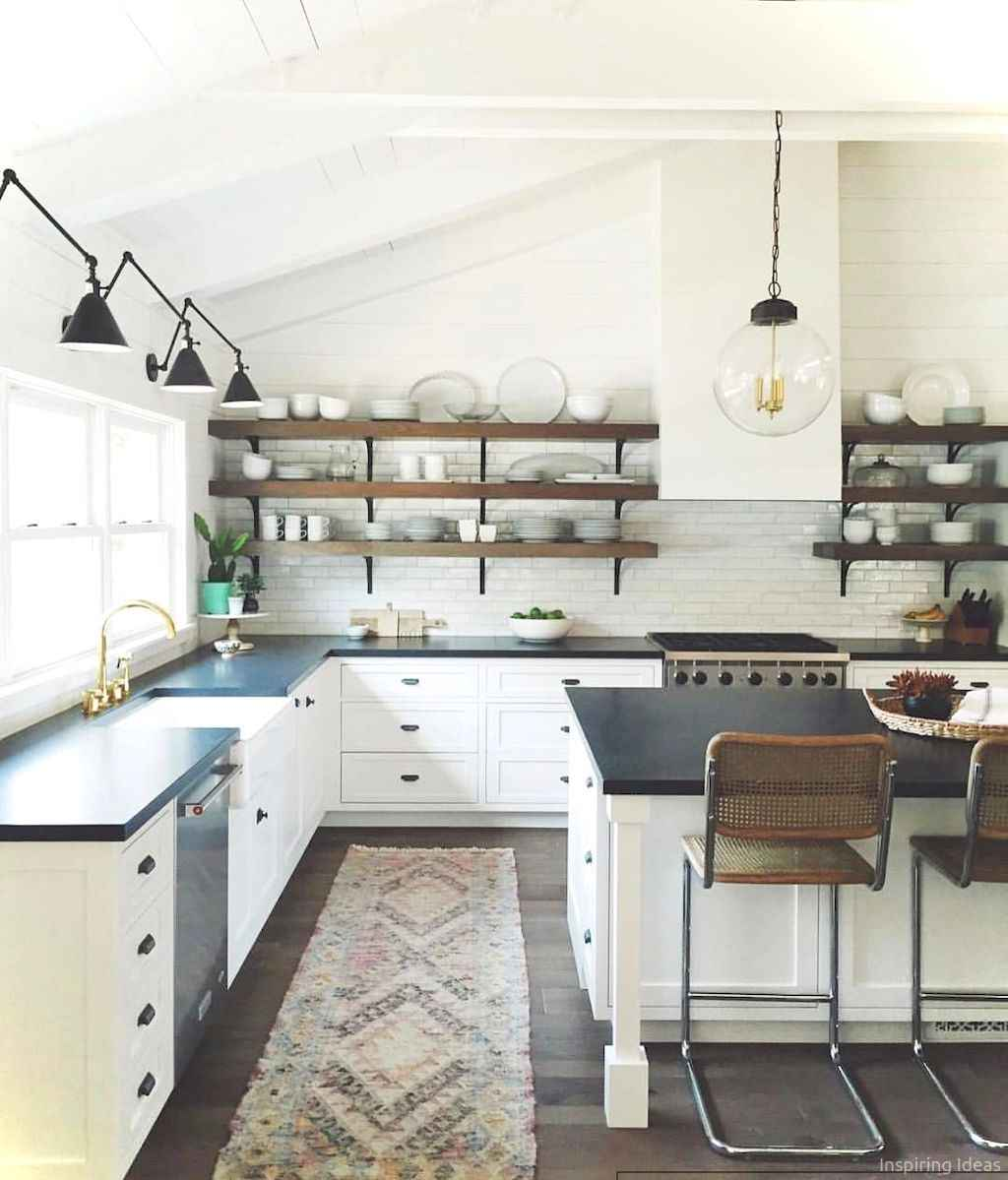 064 awesome modern farmhouse kitchen cabinets ideas