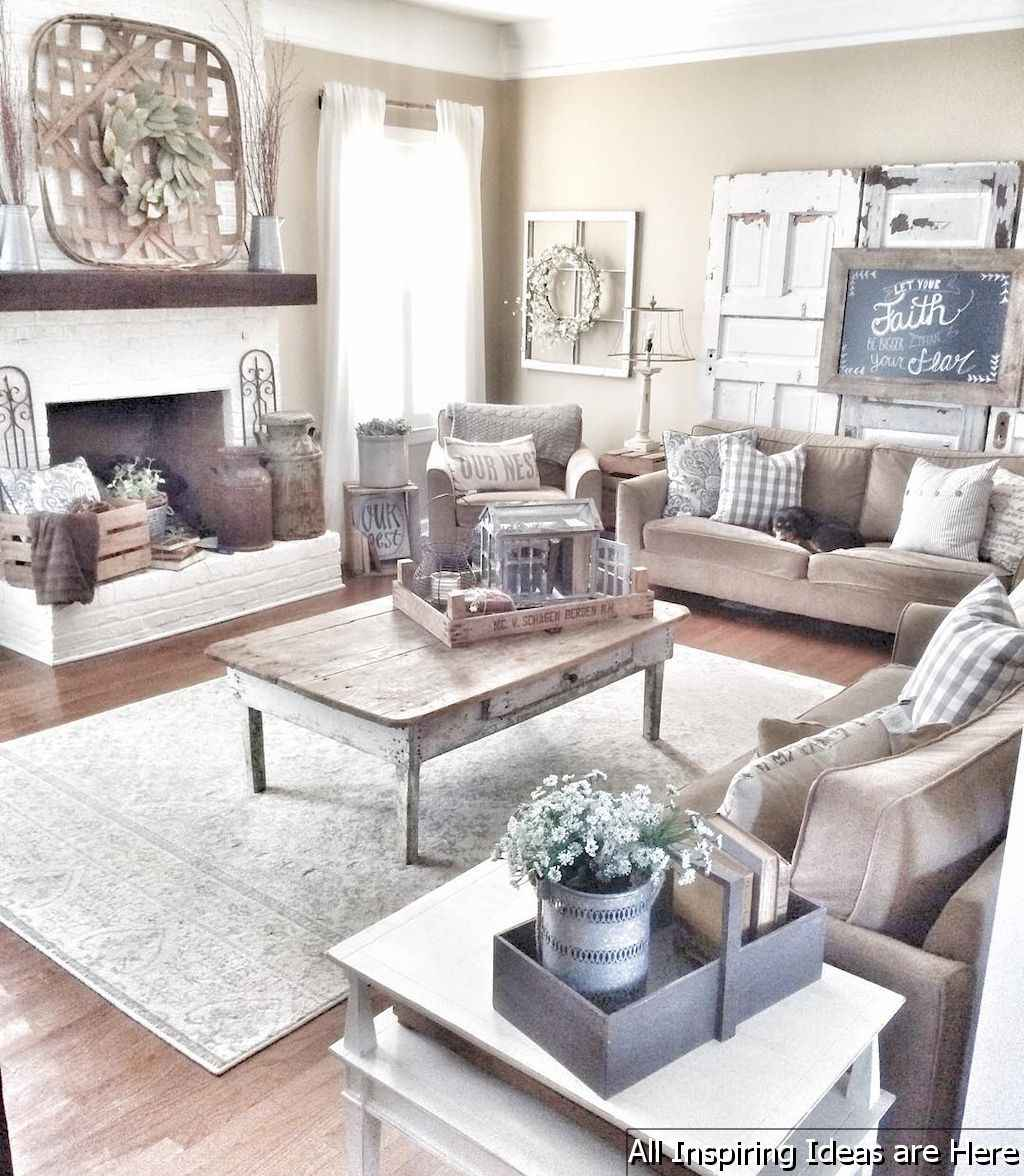 Best 22 rustic farmhouse living room ideas
