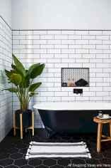 Minimalist modern farmhouse small bathroom decor ideas 10