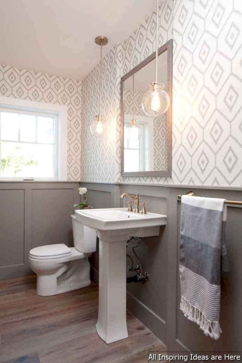 Minimalist modern farmhouse small bathroom decor ideas 25