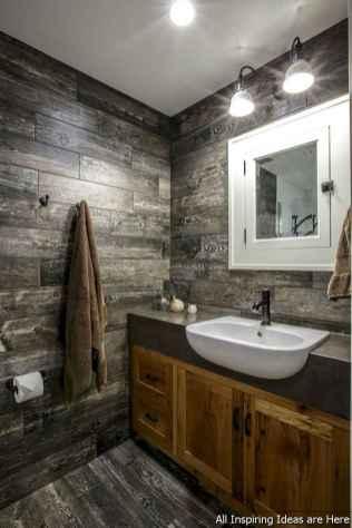 Minimalist modern farmhouse small bathroom decor ideas 26