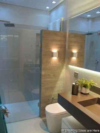 Minimalist modern farmhouse small bathroom decor ideas 39