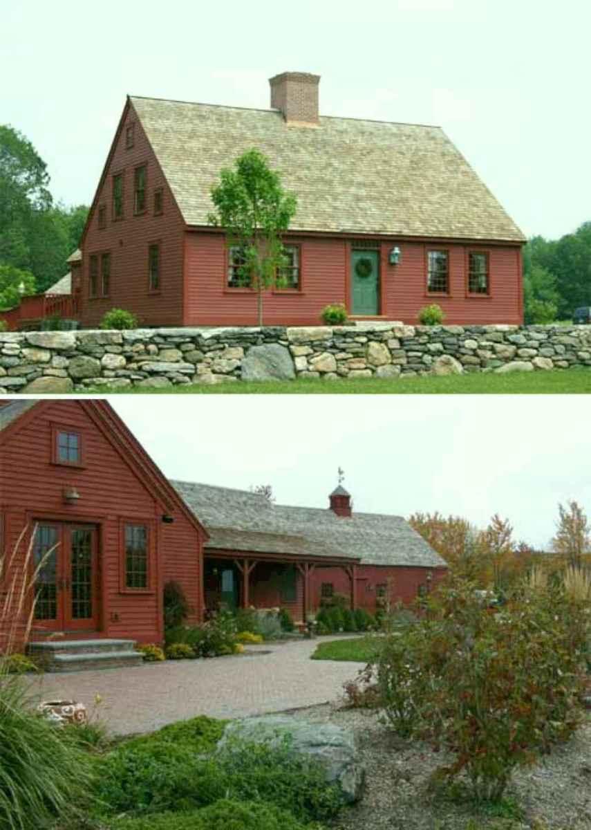 Traditional cape cod house exterior ideas 005