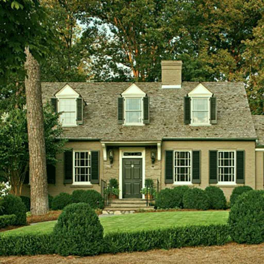 Traditional cape cod house exterior ideas 020