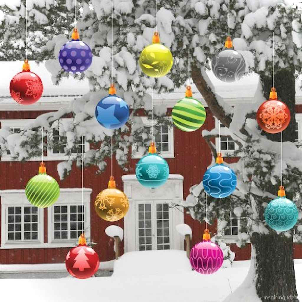 0032 peaceful christmas outdoor decorations ideas