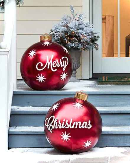 0044 peaceful christmas outdoor decorations ideas