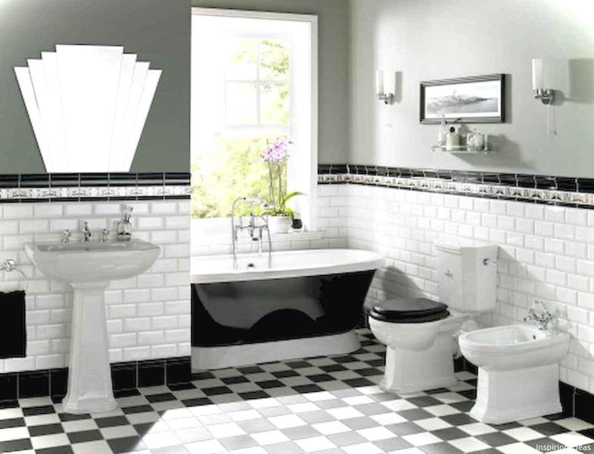 94 black and white bathroom design ideas