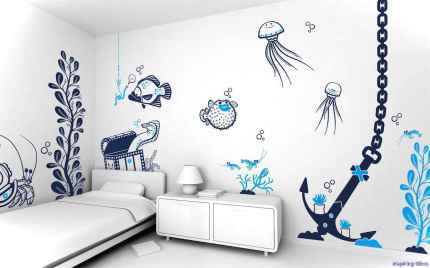 Artsy wall painting ideas for your home 41