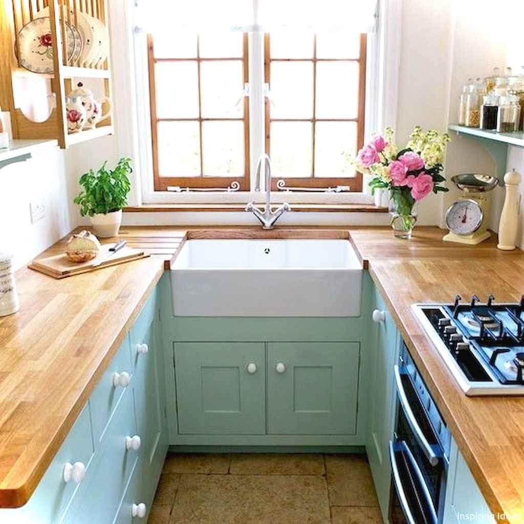 Genius small cottage kitchen design ideas049