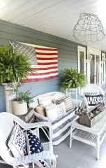 Vintage front porches furniture ideas 34