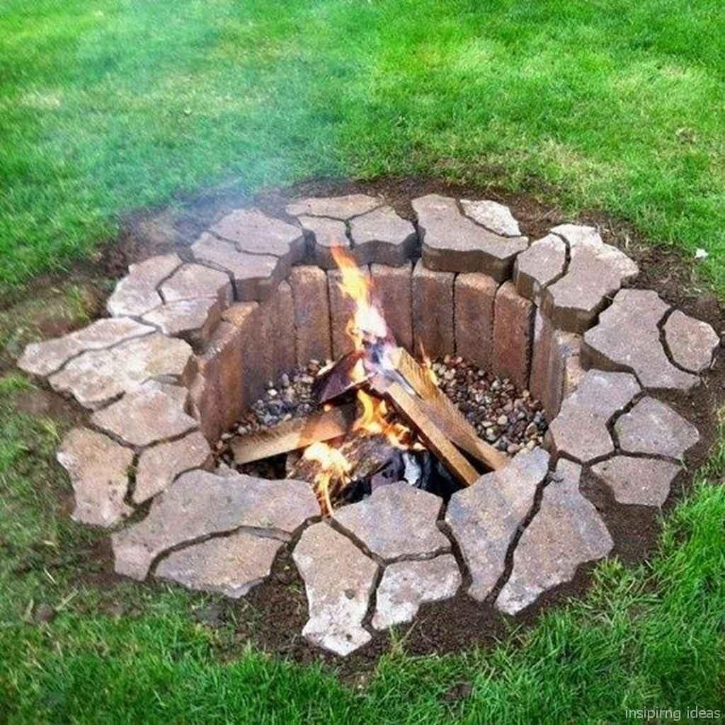 01 diy backyard fire pits design ideas