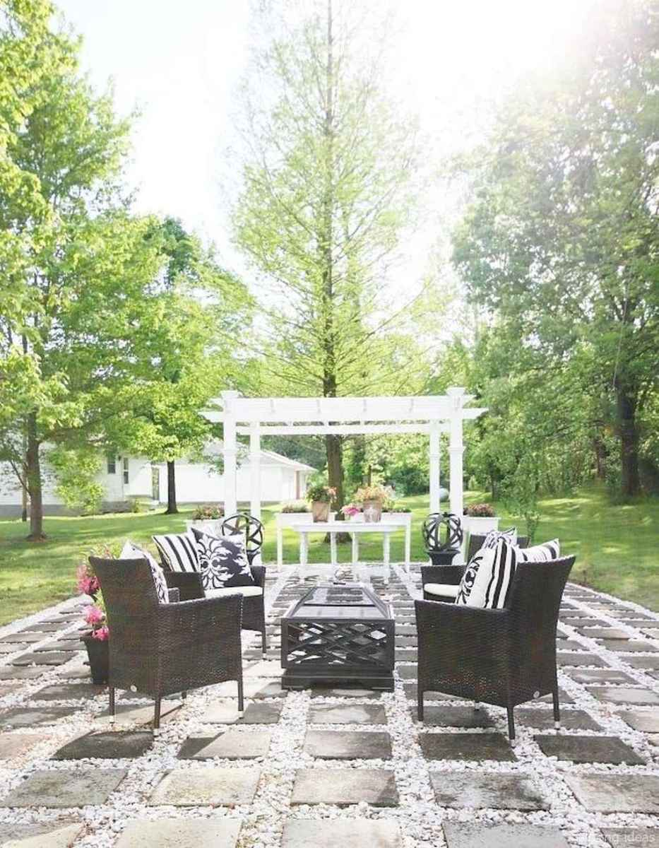 02 awesome gravel patio ideas with pergola