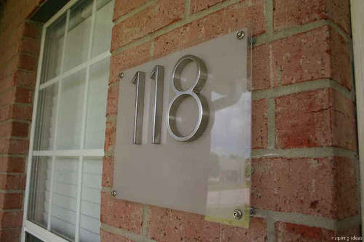 11 awesome diy modern address plate design ideas