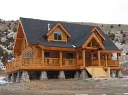 128 rustic log cabin homes design ideas