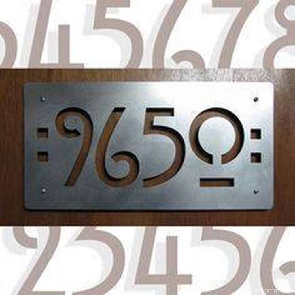 18 awesome diy modern address plate design ideas