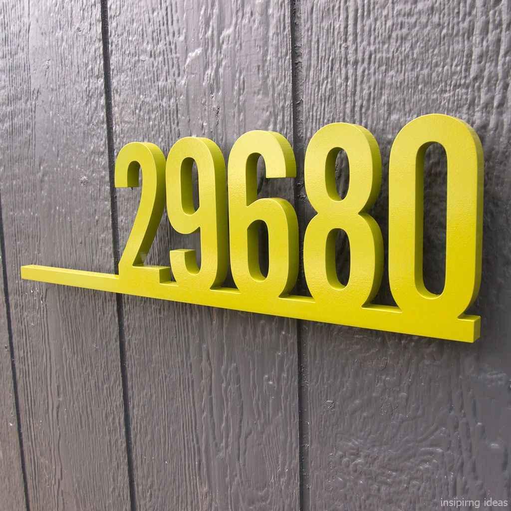 19 awesome diy modern address plate design ideas