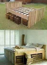 29 genius rustic storage bed design ideas
