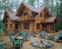 38 rustic log cabin homes design ideas