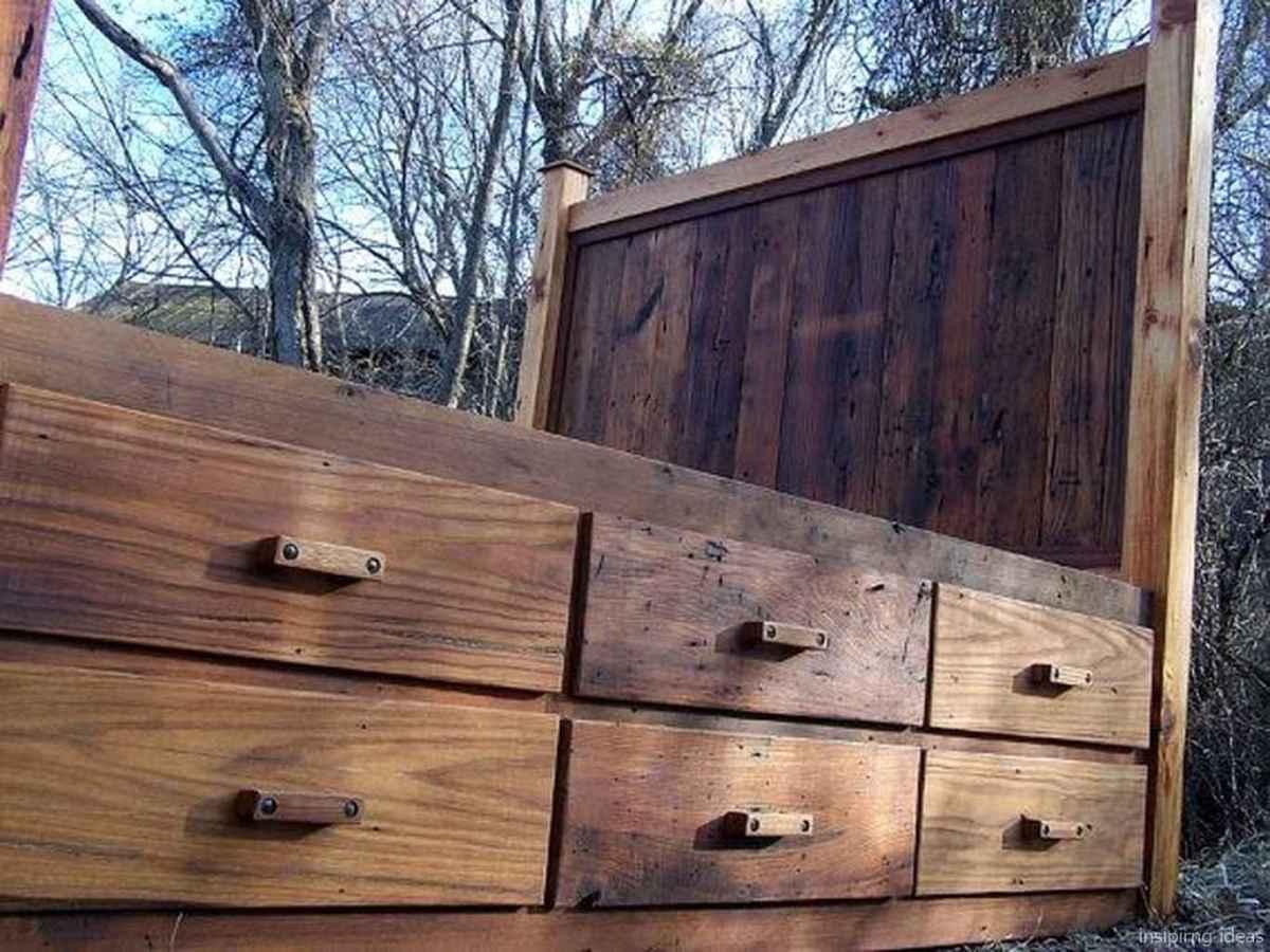 40 genius rustic storage bed design ideas