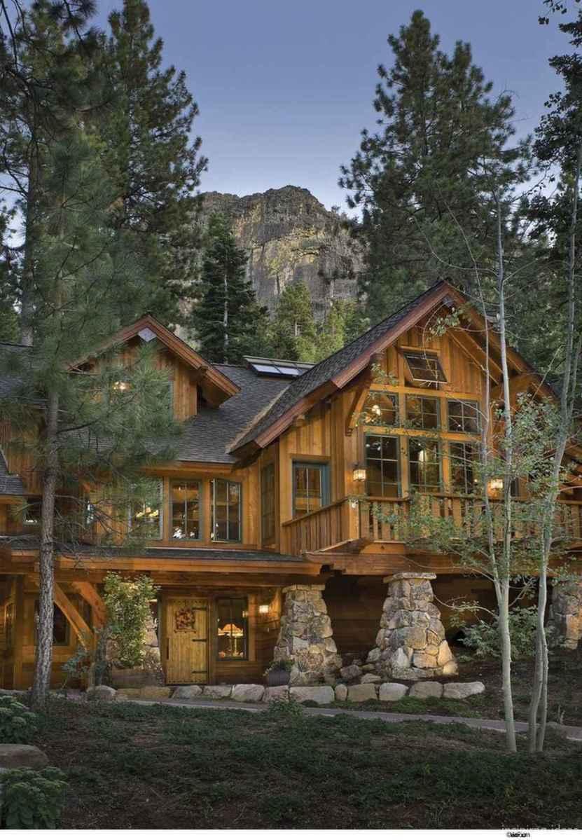 41 rustic log cabin homes design ideas