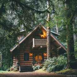 43 rustic log cabin homes design ideas