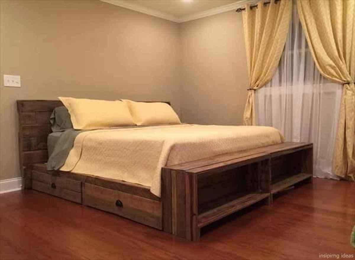 57 genius rustic storage bed design ideas