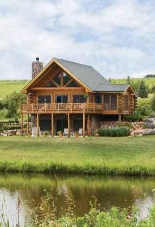 63 rustic log cabin homes design ideas