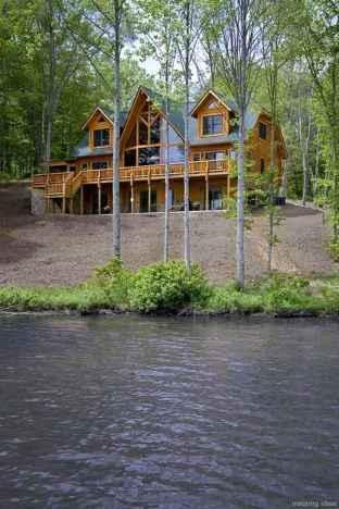 64 rustic log cabin homes design ideas