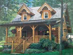 69 rustic log cabin homes design ideas