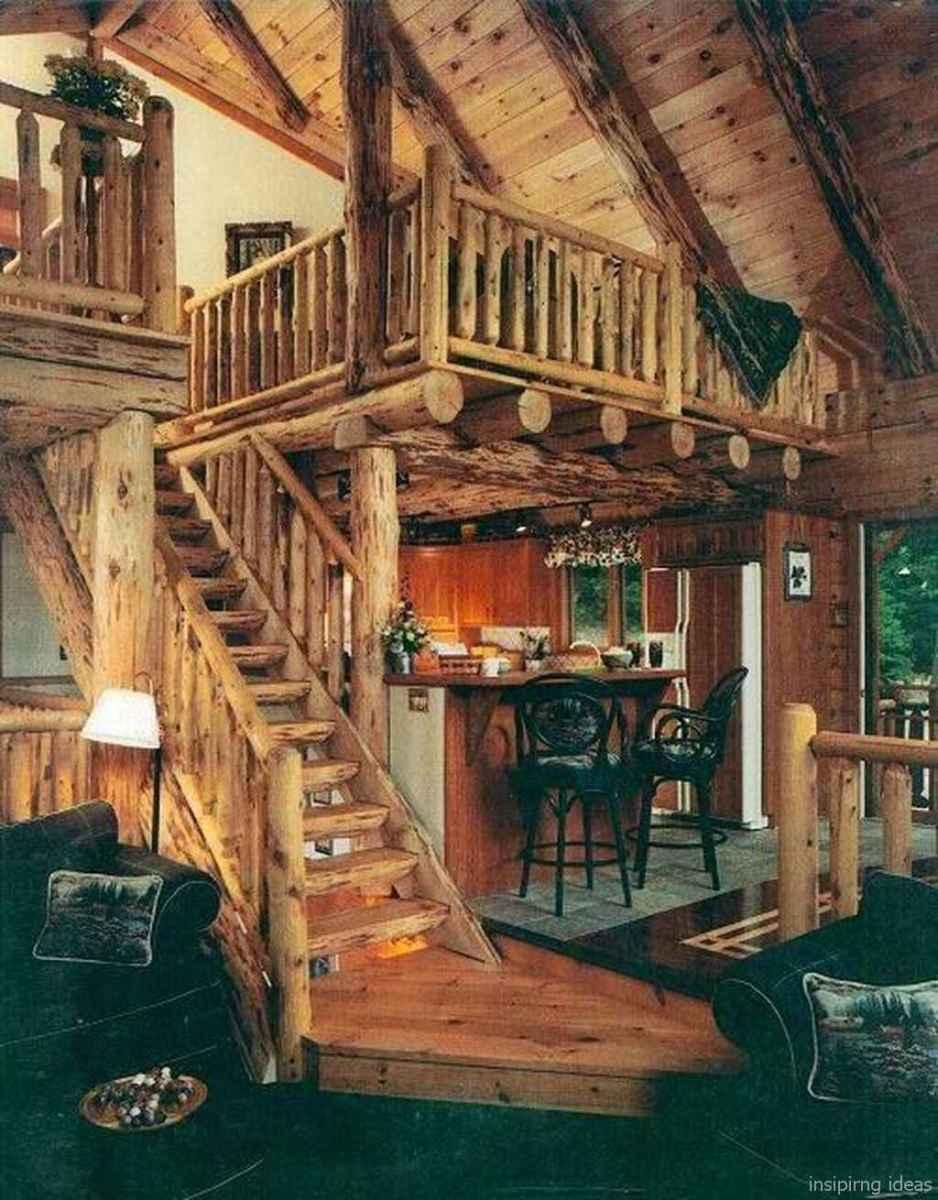 78 rustic log cabin homes design ideas