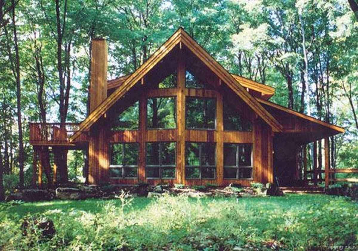 96 rustic log cabin homes design ideas