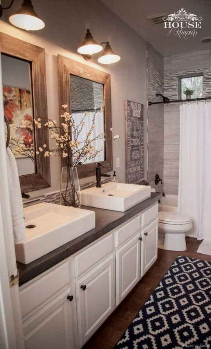 02 fabulous modern farmhouse bathroom vanity ideas