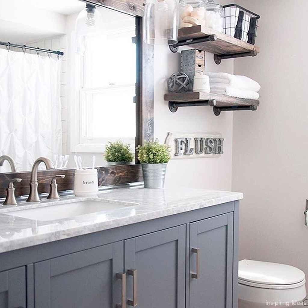 48 fabulous modern farmhouse bathroom vanity ideas