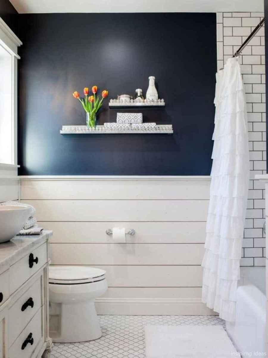 50 modern farmhouse small bathroom wall color ideas 17