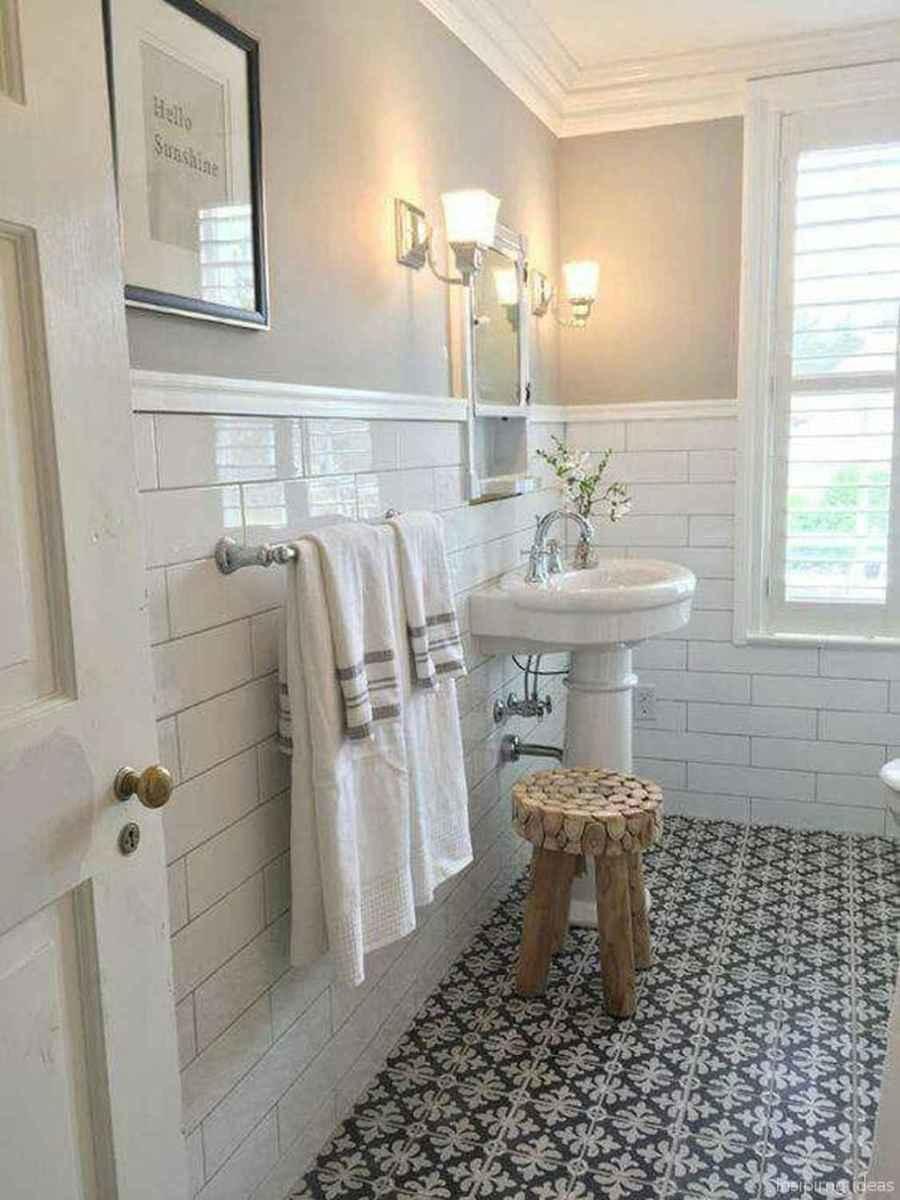 50 modern farmhouse small bathroom wall color ideas 33